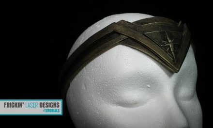 How to Make a Cosplay Foam Wonder Woman Tiara with Your Glowforge (Tutorial)