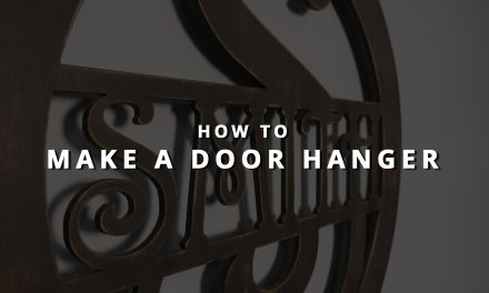 How to Make a Decorative Door Hanger with Your Glowforge